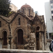 Old church in the middle of Athens