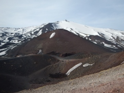 One of the volcanic outlets on Mt Etna
