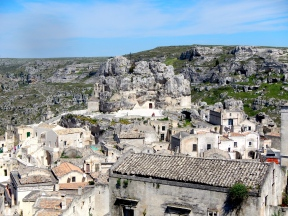 The old Italian town of Matera