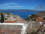 This is at the top of Hydra - you can see it is a long way down to the wharf!
