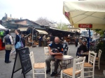 Coffee at the flea market in the Plaka
