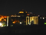 Temple of Zeus from the restaurant in the Royal Olympic