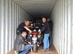 Unloading the container