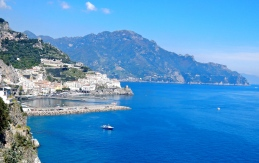 Amalfi a little further up the coast....