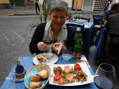 Sampling the goods at Sorrento
