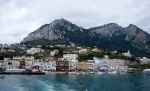 First views of the harbour at Capri