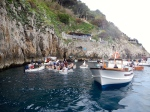 Small row boats used to go into the blue grotto