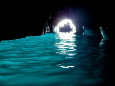 Inside the Blue Grotto. Isle of Capri