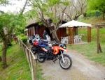 Camp site at Bracciano - 'cosy'!