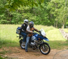Andrew and Sue on their trusty BMW GS