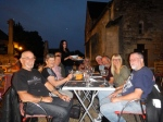 Last night in Southern France - dinner in the village square