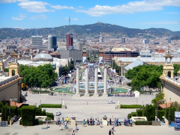 View of Barcelona from Nation Museum of Arts