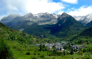 Valley village - Pyrenees Mountains