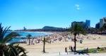 Busy Barcelona beach