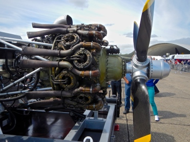 Radial engine from a Halifax Bomber