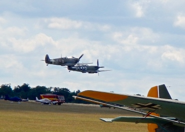 Pair of Spitfires on take off