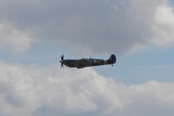 Spitfire pass by, beautiful sound of a Rolls-Royce Merlin V12