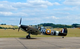 "Spitfire taxi""s past after landing"