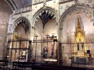 So many small chapels behind iron gates