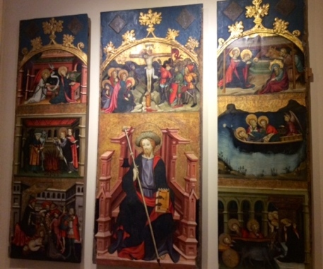 Altarpiece of James the Greater. Tempera and gold leaf on wood 1406-1410AD