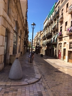 Down town Tarragona - streets shiny with wear