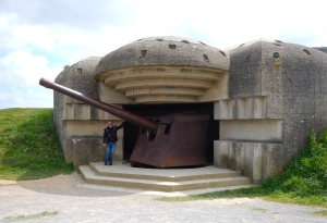 Old bunker from WW11.. and John! - Normandy - France