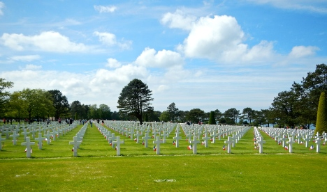 American Cemetery - so many white crosses ....' Lest we forget' - Normandy - France