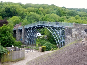 First cast iron structure built across Severn river Ironbridge - Shropshire in 1879 - England
