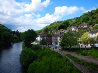The river running through Ironbridge - England