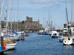 Peel Castle and harbour - Islel of Man