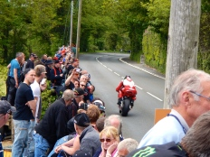 Watching the race - Isle of Man TT