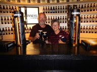 Now we are professional Guinness pourers! - Dublin - Ireland