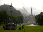 The Basilica of our Lady of the Rosary - cold and wet