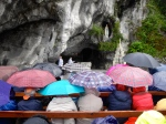 Rain does not stop praying the rosary
