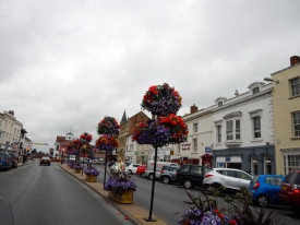 Beautiful floral street decorations in most towns - England