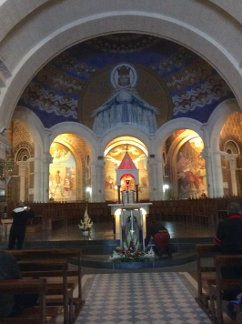 Main altar in Lourdes Basilica