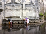 Many taps to collect Lourdes water