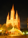 Wiesbaden Cathedral by night