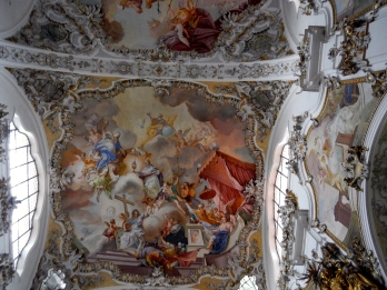 Colourful ceiling paintings