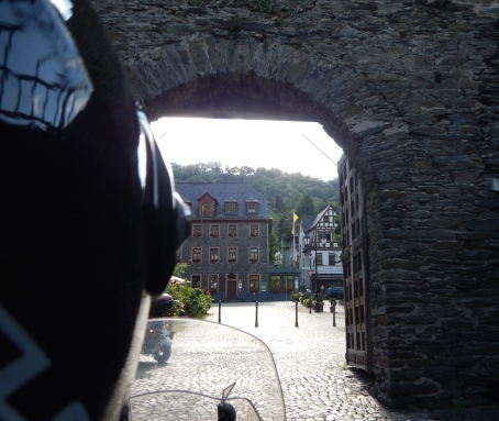 Going through the old town wall