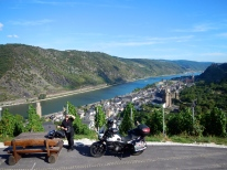 Hilltop view of Rhine Valley