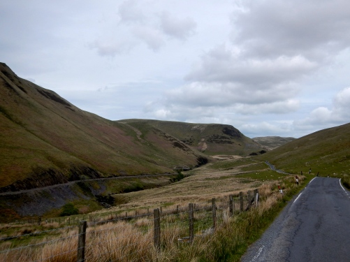 This lovely bit of road cut through the Cambrian Mountain Range Wales
