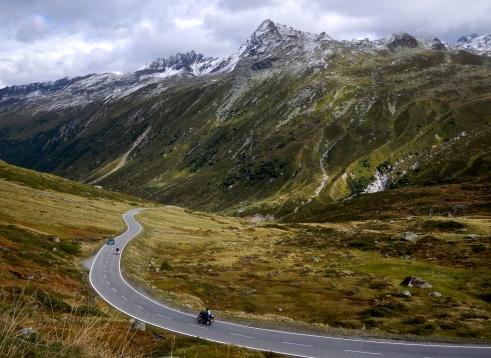 The lone rider, Swiss Alps