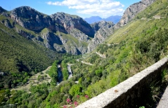 This mount road is on Italy's coast line near Marina di Camerota