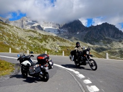 Bikers paradise in the Swiss Alps
