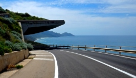 Nice newly surfaced road with handy sun shade ? They think of everything in Corsica
