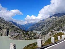 High mountain lakes in the Swiss Alps