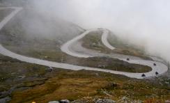A foggy Susten Pass but still plenty of bike riding the Swiss Alps