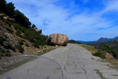 One of Sardinia's more interesting roads !!