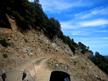 This road was spectacular on Sadinia's mid east coast